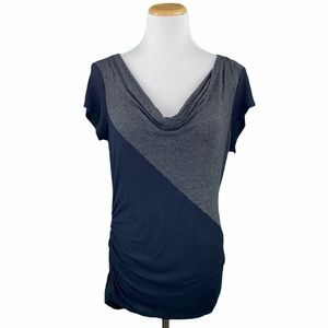 GUSB Collection Side Ruched Cowl Neck Blouse